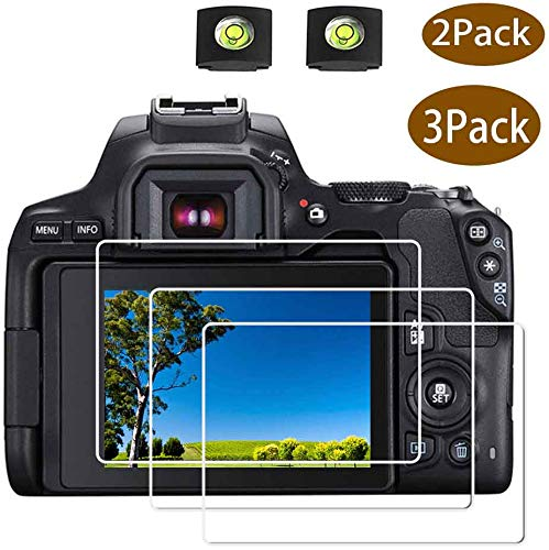 Canon Rebel SL3 Screen Protector for Canon EOS Rebel SL3 DSLR Camera & Hot Shoe Cover, [2+3Pack] ULBTER 0.3mm 9H Hardness Tempered Glass Flim Anti-Scrach Anti-Fingerprint Anti-Bubble Anti-Water