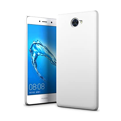 SLEO Funda para Huawei Y7 Ultra Ligero PC Carcasa Protectora de teléfono Cover de Parachoques Duro Cubierta Protectora para Huawei Y7 - Blanco