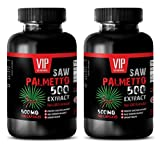 hair loss supplements for men - SAW PALMETTO 500 EXTRACT - saw palmetto for hair loss in women - 2 Bottles 200 Capsules