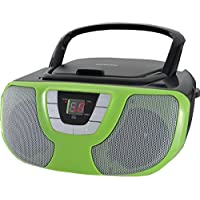 Sylvania Portable CD Player Boom Box with AM/FM Radio (Teal)
