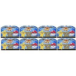 "Pikachu & Friends ""Thank You"" Postcards, Party Favor"