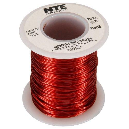 NTE WM20-0.5 20 AWG Magnet Wire 1/2 lb. 160 ft. by NTE [並行輸入品]  B018A1LIZQ