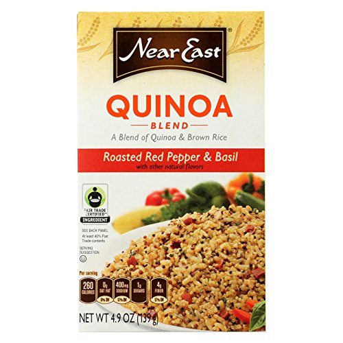 Near East Quinoa Blend - Roasted Red Pepper and Basi - Case of 12 - 4.9 oz. by Near East