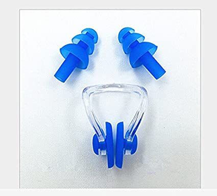 1 Pcs Swimming Swim Diving Soft Nose Clip Ear Plug Earplug Set 4 Colors NEW