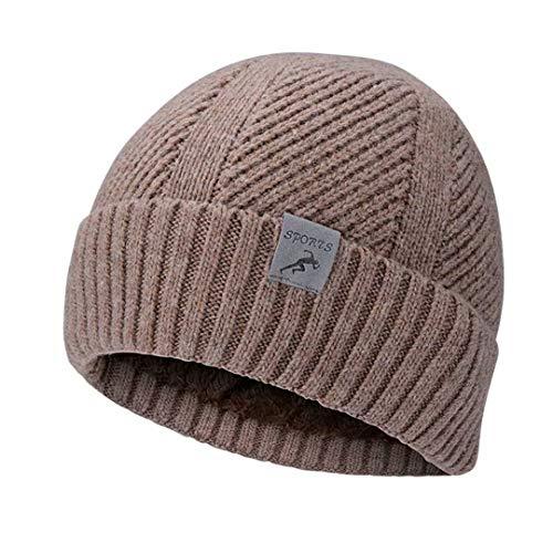 Loyakuu Winter Knit Beanie Hats for Men & Women - Warm Wool Thick Slouchy Skull Cap for Kids