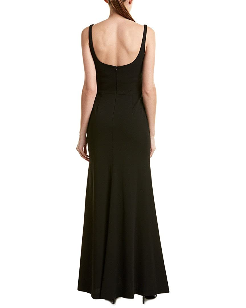 Vera Wang Womens Sleeveless Gown with Sweetheart Neckline