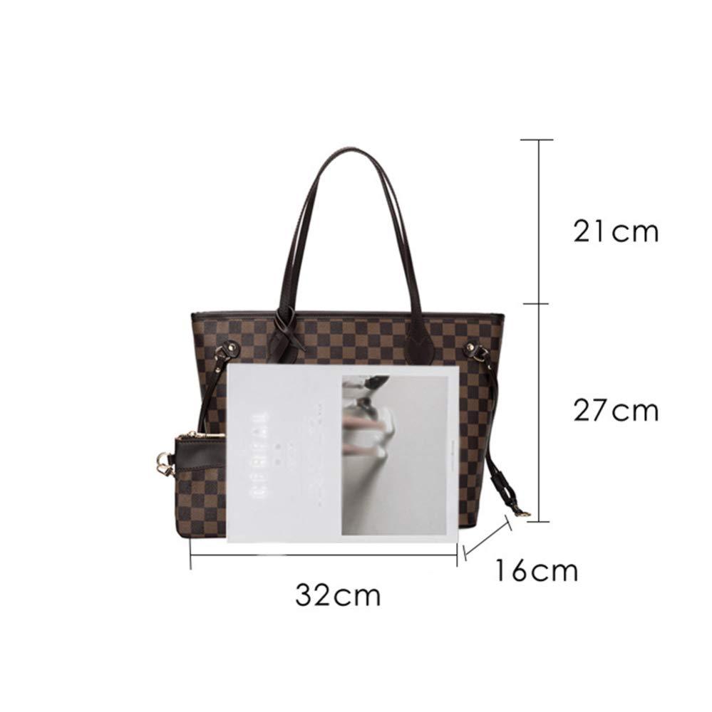 yjll Damen Designer Leder Stil Große Einkaufstasche Schultertasche Handtasche,D A