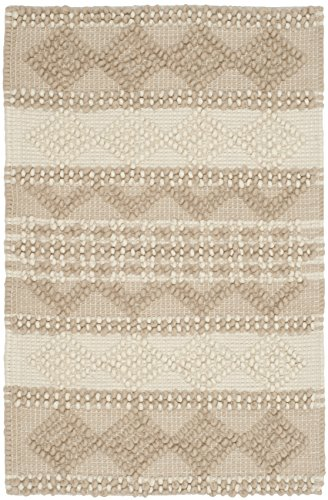 Safavieh Natura Collection NAT102B Hand-Woven Beige and Ivory Area Rug (2' x 3')