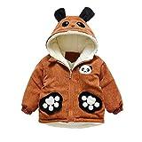 Naladoo Fashion Toddler Baby Boy Girl Cartoon Cute Panda Ear Zipper Hoodie Coat