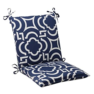 Pillow Perfect Indoor/Outdoor Carmody Squared Chair Cushion, Navy