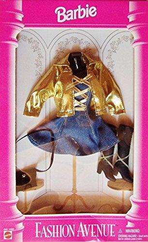 BARBIE - Fashion Avenue - Blue Denum Dress with Gold lame' jacket