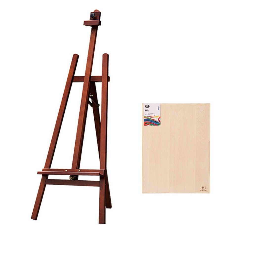 Mei Xu イーゼルス イーゼルソリッドウッドペイントシェルフドローボード付きアートイーゼルスケッチ水彩イーゼル衣類不動産ディスプレイラック (色 : Brown)  Brown B07KY9VXGF