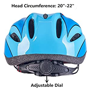 Lovely Cartoon Design Blue Bicycle Cycle Cycling Bike Helmets Protective Gear for Toddler Child Children Kids Safety Protection,Ultra-light Outdoor Sports Kid Helmet for Boy Girl Student Pupil
