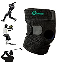 AGPtek Breathable Non-slip Knee Brace for Hiking, Running, Basketball - Knee and Elbow Waist Pads for Cycling, Skating, Mini Biking Riding - Adjustable One Size