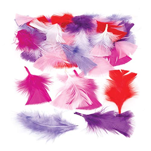Baker Ross Red, Pinks & Purple Craft Feathers