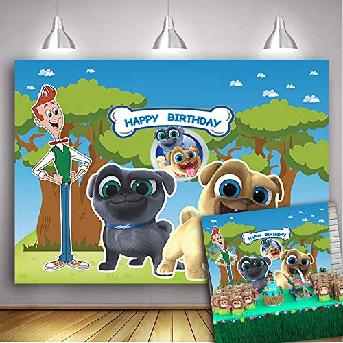 - Futopuul Puppy Dog Pals Theme Backdrop Bob and Bingo Rolly's Story Backdrop Birthday Party Photography Background 7x5FT