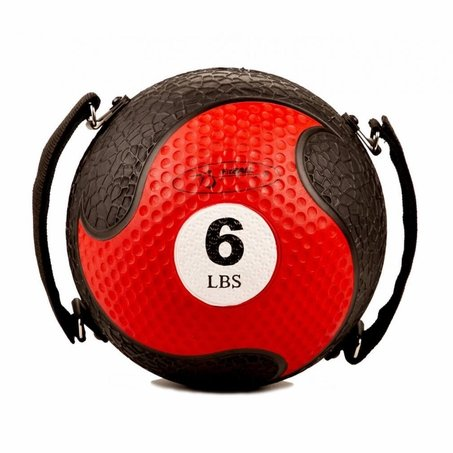 FitBALL MedBalls with Straps - 6 lb - Red