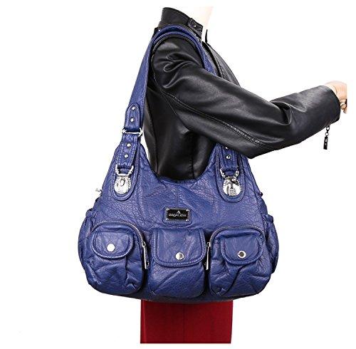Femme Poches brun à Sac Noir 3 Capacité Multi Bandoulière Clair Sac Haute AUHwnqx6EW