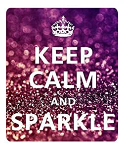 Custom I Keep Calm And Sparkle Anti Slip Comfort Gaming Mouse Pad - Durable Office Accessory Gift