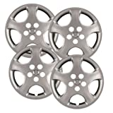 Hubcaps.com - Premium Quality 15' Silver Hubcaps / Wheel Covers fits Toyota Corolla, Heavy Duty Construction (Set of 4)
