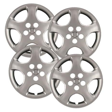 """hubcaps. com – PREMIUM CALIDAD – Toyota Corolla réplica Tapacubos, 15 """"plata"""