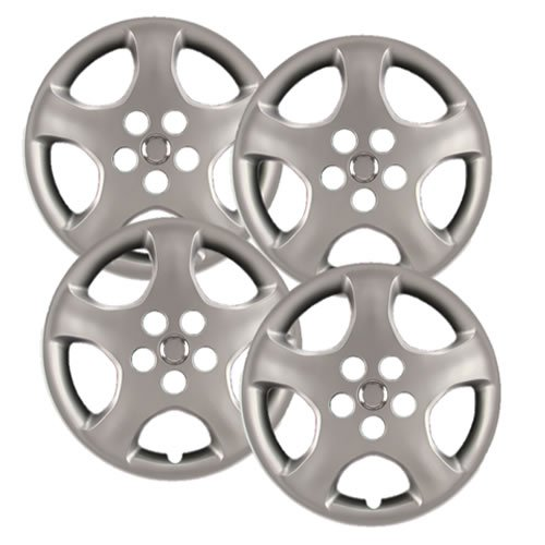 Hubcaps Com   Premium Quality   Toyota Corolla Replica Hubcaps  15  Silver Replica Wheel Covers  Heavy Duty Construction  Factory Replacement  Set Of 4