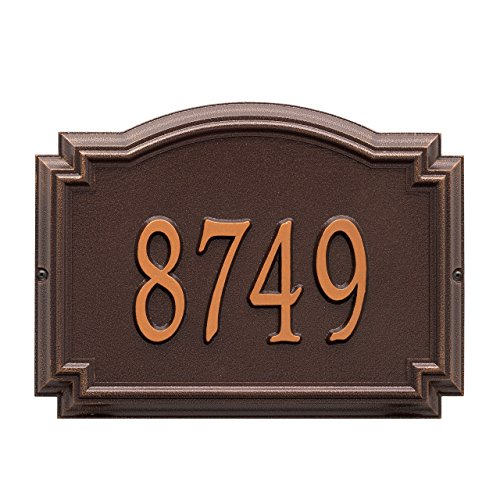 - Customized 1 Line Williamsburg WALL Aluminum Address Plaque 14