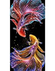 Diamond Painting Kits for Adults, 5D DIY Full Drill Round Diamond Art Craft Canvas Supply for Home Wall Deco