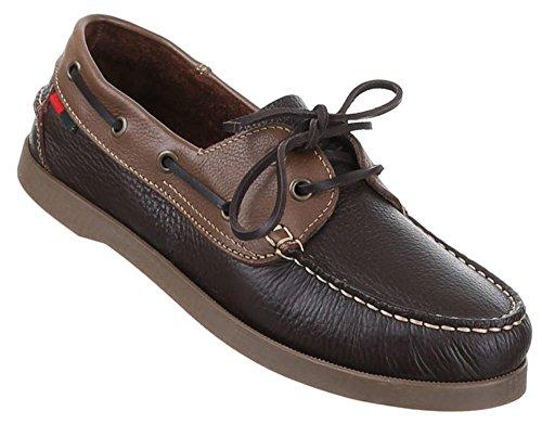 Herren-Schuhe Schnürschuhe | moderne Halbschuhe mit Schnürung in Dunkelbraun und in Größe 42 | Schuhcity24 | Stiefeletten Bootschuhe in Lederoptik | 360 Grad Schnürung