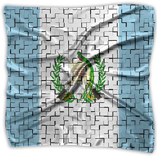 Handkerchiefs Scarf Guatemala Flag Puzzle Novelty Shawl Bandanas Multi-Function Party Gifts 23.6