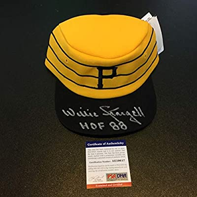 Beautiful Willie Stargell HOF 1988 Signed Game Model Pittsburgh Pirates Hat PSA