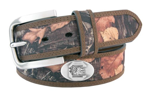 Game South Carolina Gamecocks Camo - NCAA South Carolina Gamecocks Fencerow Nylon Concho Belt, Camouflage, 34-Inch