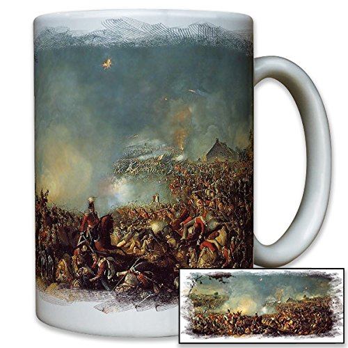 Waterloo 1815 battle liberation wars painting picture Napoleon defeat Prussia France England Belgium Russia - Coffee Cup ()