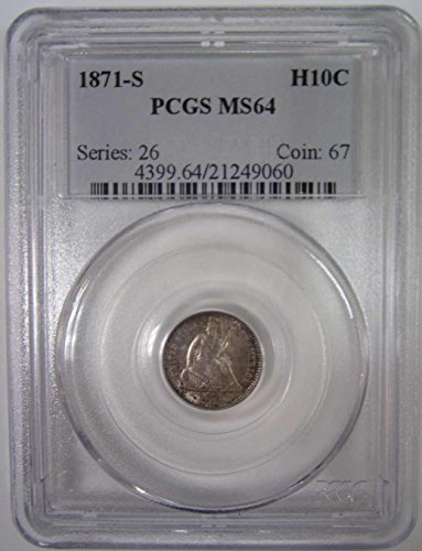 1871 S Liberty Seated Nickel PCGS MS64