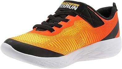 escarabajo Portero mitología  Amazon.com: Skechers GOrun 600 - Farrox para niño (talla M), color naranja  y negro, Naranja: Shoes