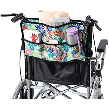 Wheelchair Bag, Heavy Duty Rollator Bag, Folding Walker Bag, Walker Accessories, Wheelchair...