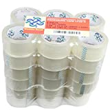 36 Rolls Thick (2.6 Mil) Double Bond Commercial Grade Packing Tape, 1.88'' x 54.6 Yds (48mm x 50m), Clear (S636)