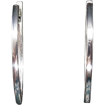 Elegante pendientes largos de plata de ley sólido marcado 925 E000767