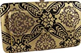 Gold Damask Clutch Wallet w/Outside Pocket, Bags Central