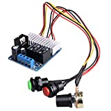 DC Motor Speed Controller,Quimat 7-30V DC 10A 300W PWM Speed Adjustable Reversible Switch DC Motor Driver Reversing Switch