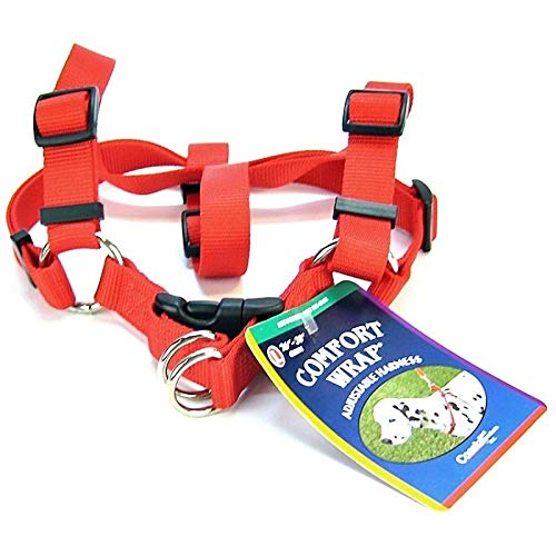 Coastal Pet Products DCP6945RED Nylon Comfort Wrap Adjustable Dog Harness, 1-Inch, Red