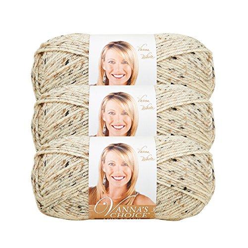 (3 Pack) Lion Brand Yarn 860-400D Vanna's Choice Yarn, Oatmeal