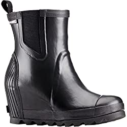 Sorel Joan Rain Wedge Chelsea Boot - Women's Blacksea Salt, 8.5