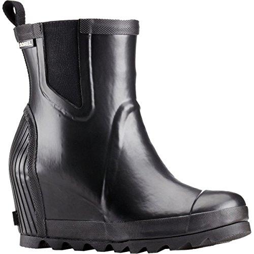 Sea Joan 7 Boot Rain SOREL Chelsea Salt Women's Wedge Black 5 0wWpZ1q