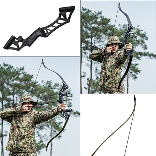 SinoArt Falcon 60 Takedown Hunting Recurve Bow Metal Riser 30 35 40 45 50 55 60 65 70 Lbs Black/Camo RIGHT HANDED