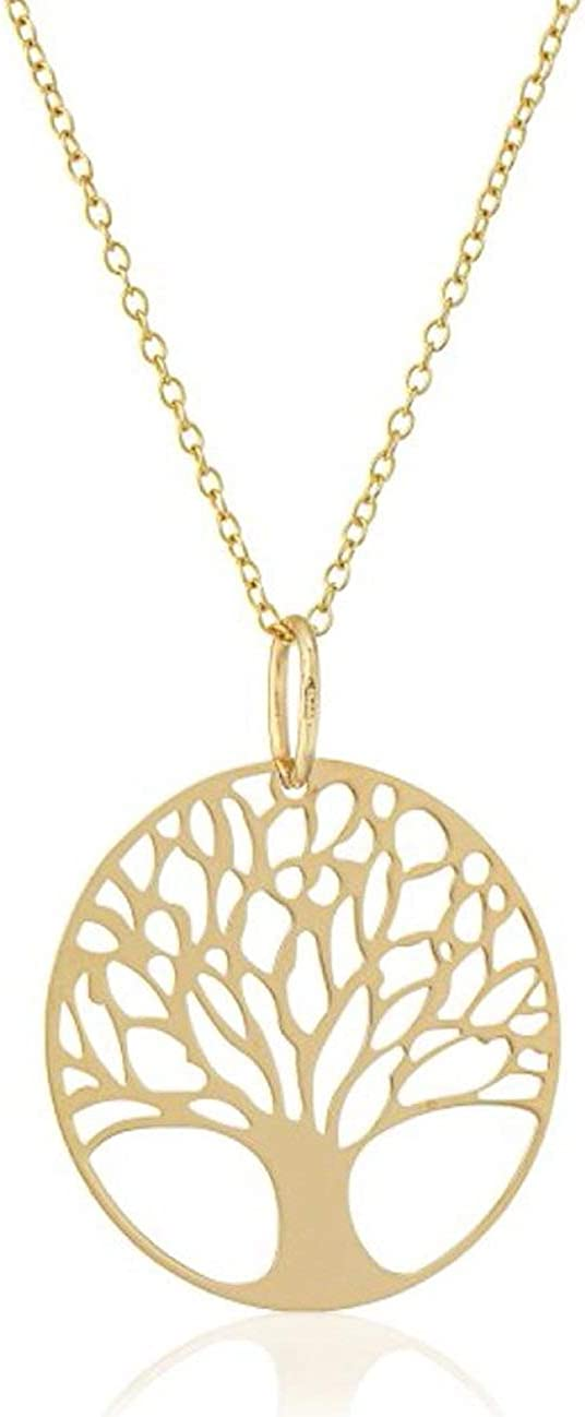 Sterling Silver Tree of Life Disk Pendant Necklace Immortality Growth Strength Jewelry Women Girls Anniversary Birthday Mother's Gift