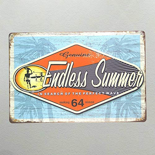 Endless Summer Tin Sign - MMNGT Endless Summer Vintage Tin Sign Iron Paintings Bar Wall Decoration TIN Sign 7.8X11.8 INCH