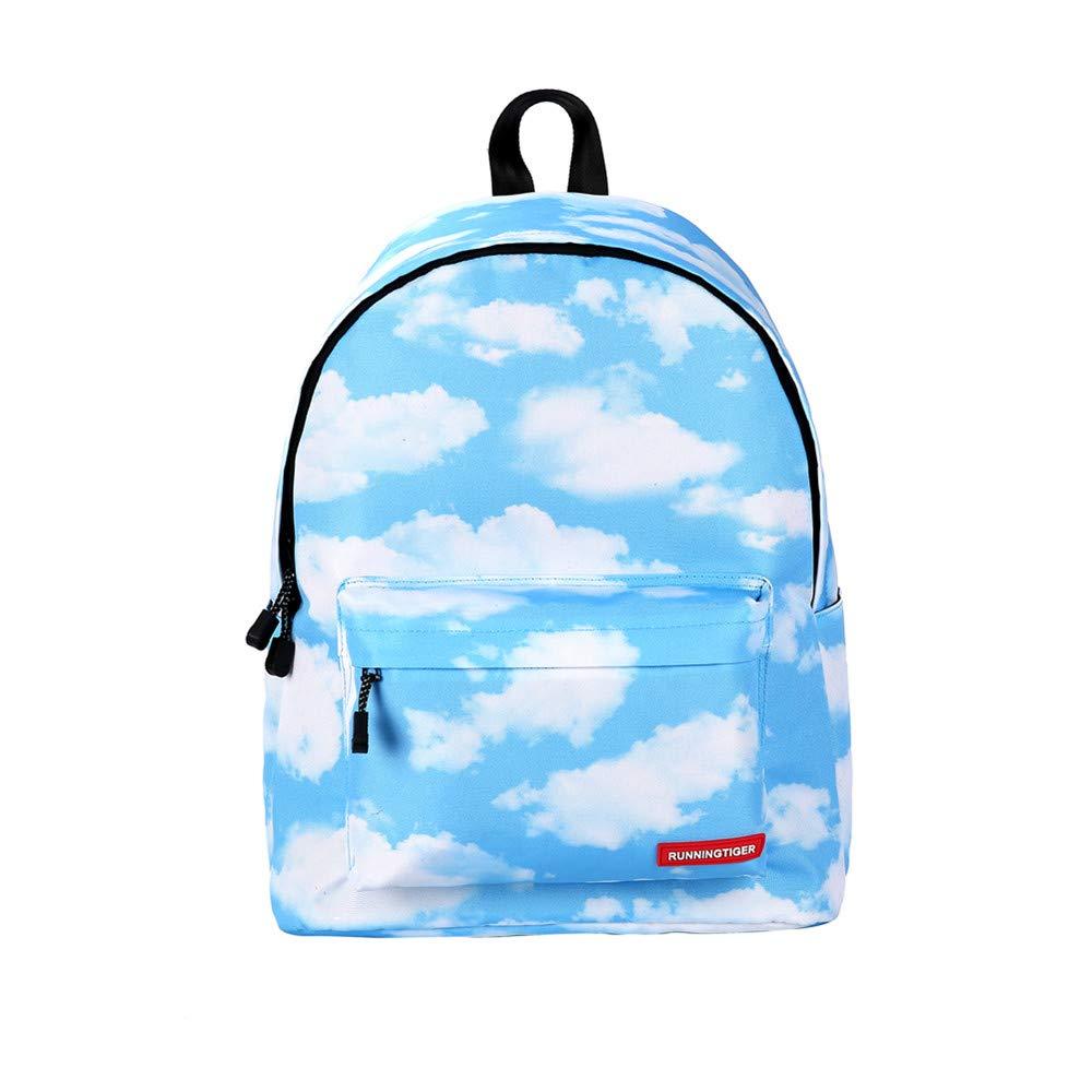 Canvas Backpack, Businda Cute Backpacks School Bookbags Printing Zipper Backpacks Fashion School Bags Casual Canvas Laptop Protective Rucksack for Kids Adults Boys Girls