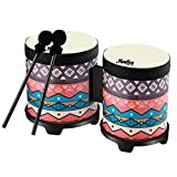 Moukey Kids Bongo Drums set, 5 inch and 6 inch Diameters,5.7 inch Height