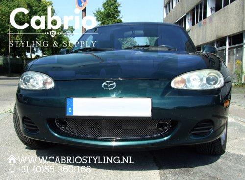 Mazda MX5 NB Edelstahl K/ühlergrill 1-Teilig 1998-2002 bis Facelift